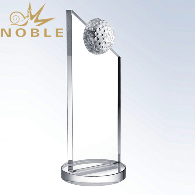 Free Engraving Blank Crystal Plaque Golf Trophy