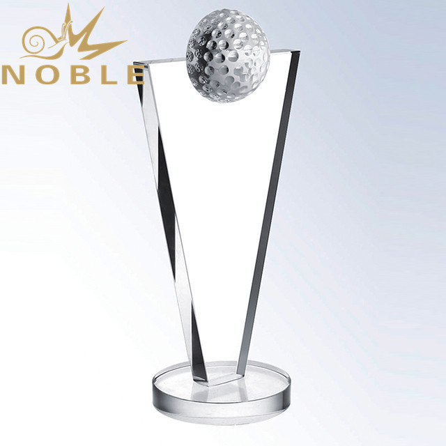 New Design Crystal Golf Plaque with Free Engraving