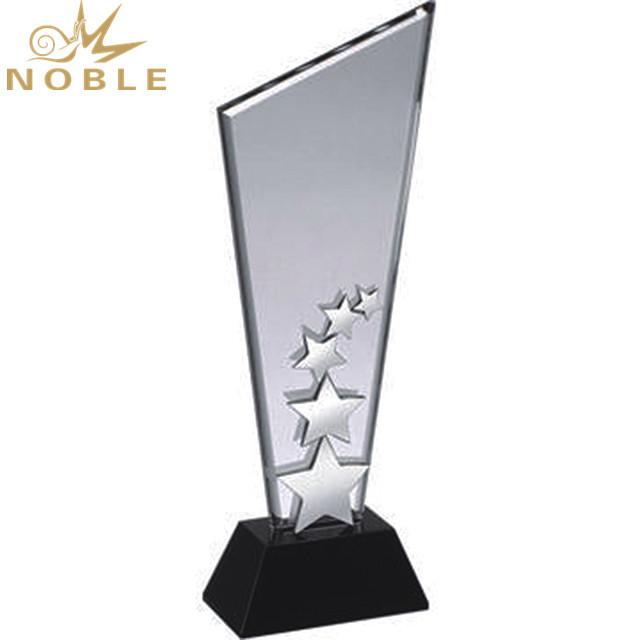 Trophy Manufacturer Star Shape Crystal Award