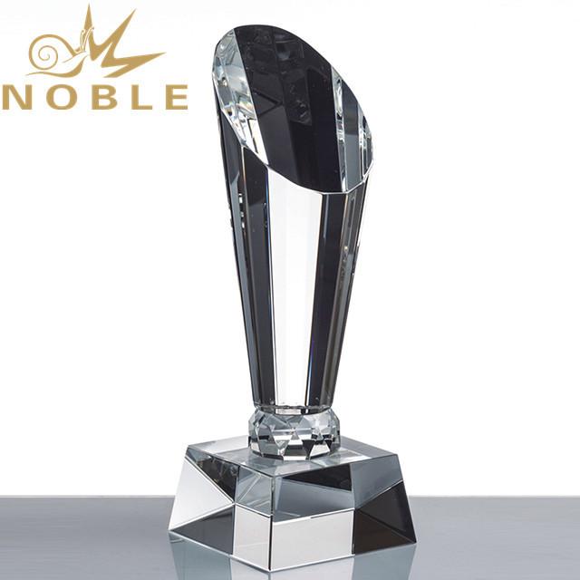 Noble Custom Engraving Diamond Cutting Crystal Corporate Trophy