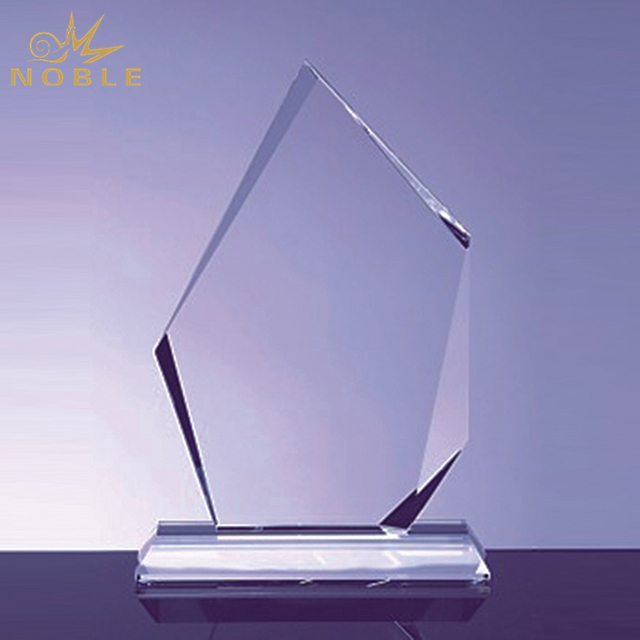 High Quality Faceted Ice Peak Crystal Trophy