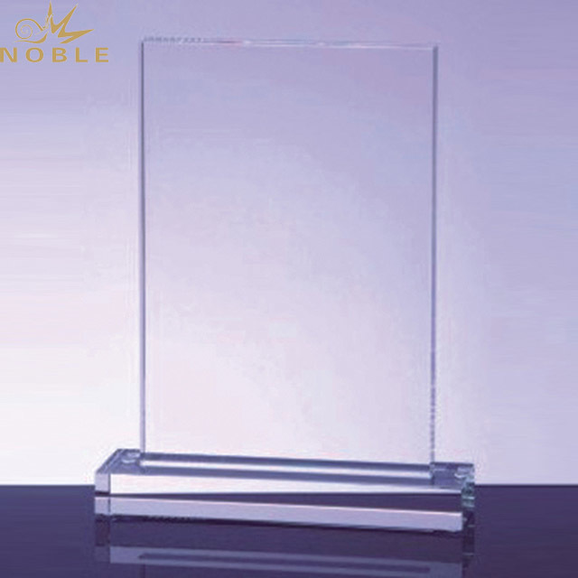 Noble Custom Retail Blank Clear Crystal Acrylic Trophy Award With Logo