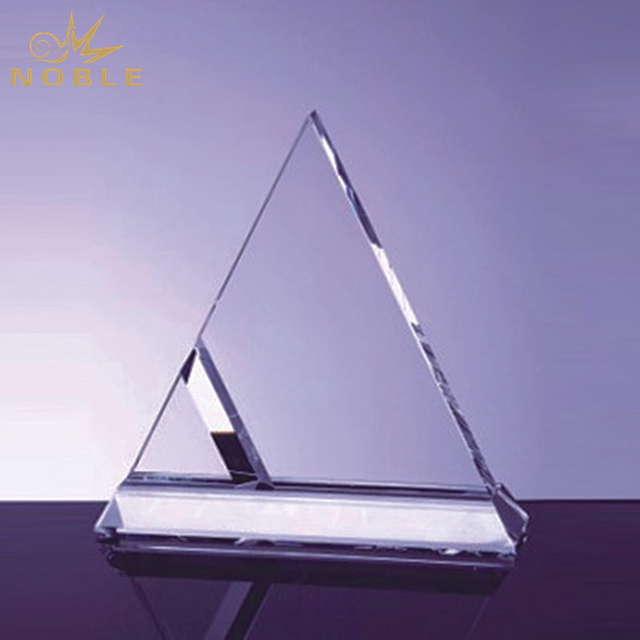 High Quality Crystal Duet Triangle Award
