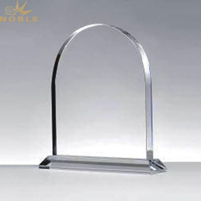 Retail Blank Clear Crystal Acrylic Trophy Award With Logo