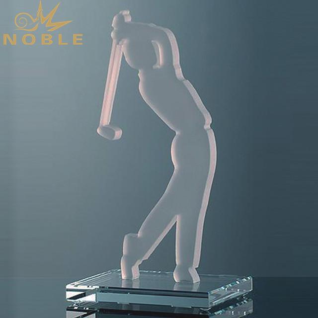 New Design Custom Crystal Golf Trophies