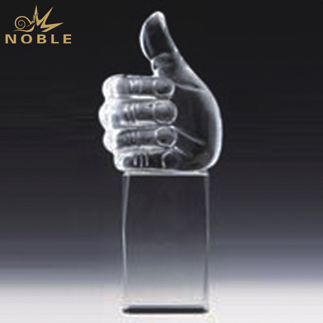 New Design Crystal Thumb Award