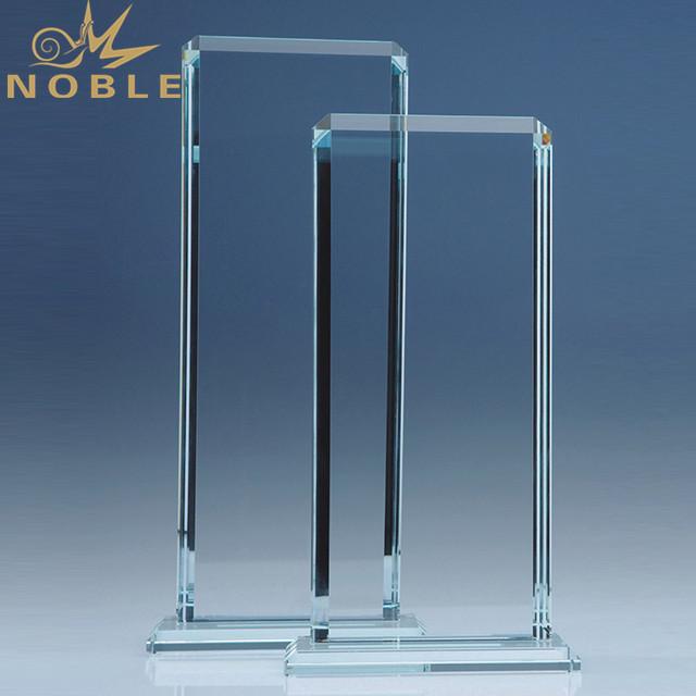 Blank Rectangle Crystal Awards trophy