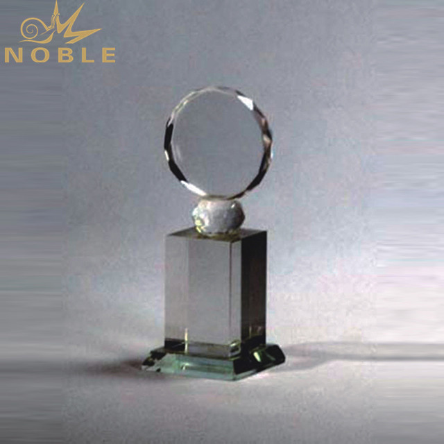 Wholesale Custom Cheap Round Crystal Trophies For Ornaments