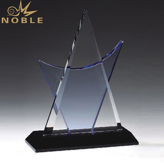 Cheap Triangle Crystal Award Plaque Pyramid Trophy For Engraved
