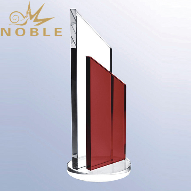 Noble High Quality Blank Crystal Plaque Award with Red Crystal