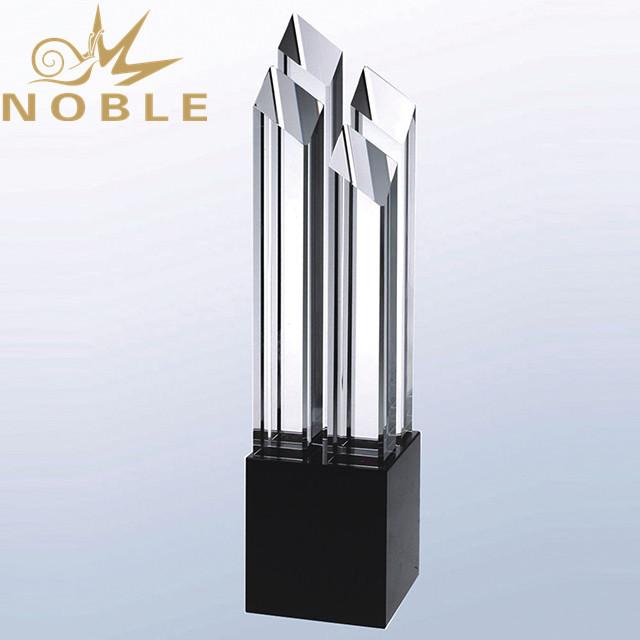 Custom Engraving Popular Design High Quality Crystal Award Trophy