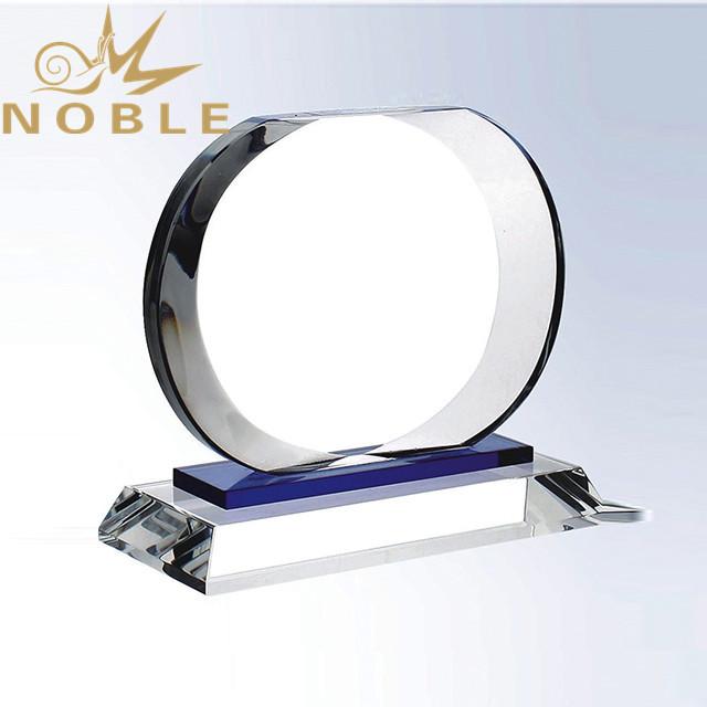 Custom Design Oval Crystal Plaque Trophy