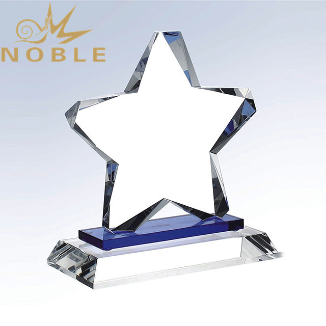 Free Engraving Crystal Star Trophy