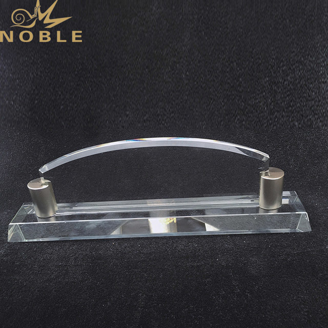 2019 Noble Customized Blank Crystal Trophy For Company Sales Awards