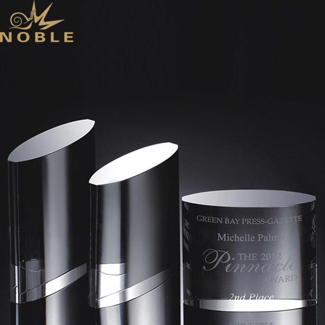 2019 Noble Engraved Logo Octagon Shape glass trophy K9 Crystal