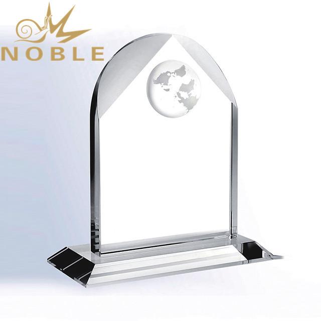 Custom Crystal Globe Award