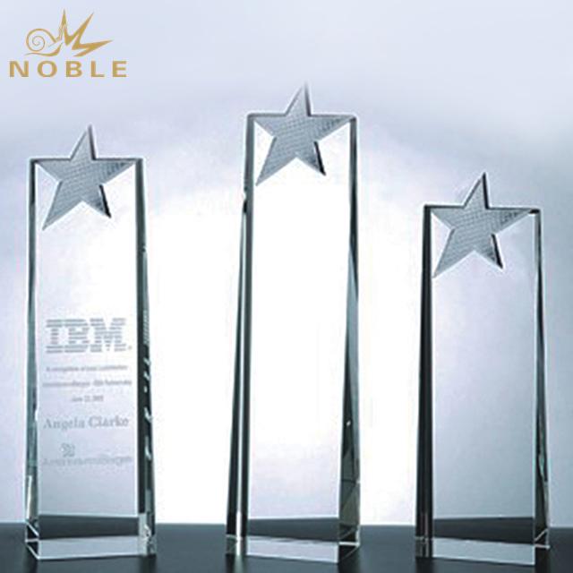 Beautiful Top Star Tower Crystal Award