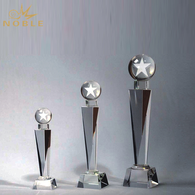 Unique Design Top Star Crystal Trophy