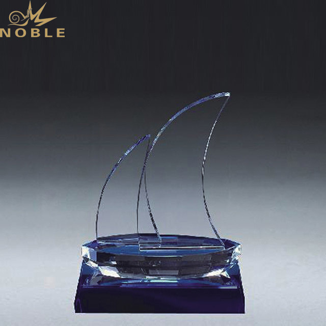 2019 Noble Professional Custom Sailing Boat Crystal Trophy for Sale