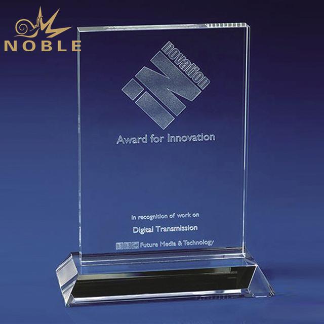 New Design Square Crystal Trophy Plaque