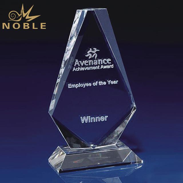 Customized Elegance Flame Crystal Trophy