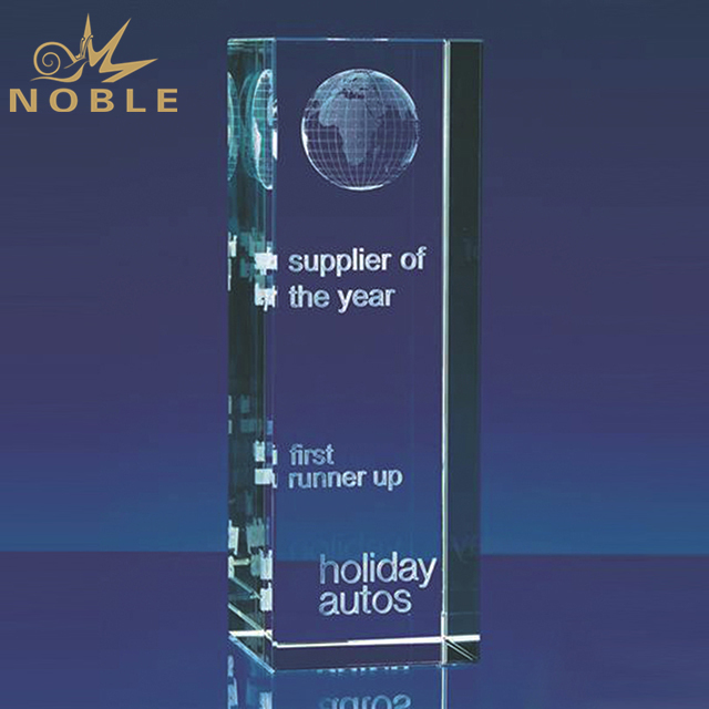 Crystal Glass Globe Trophy With Engraving Logo