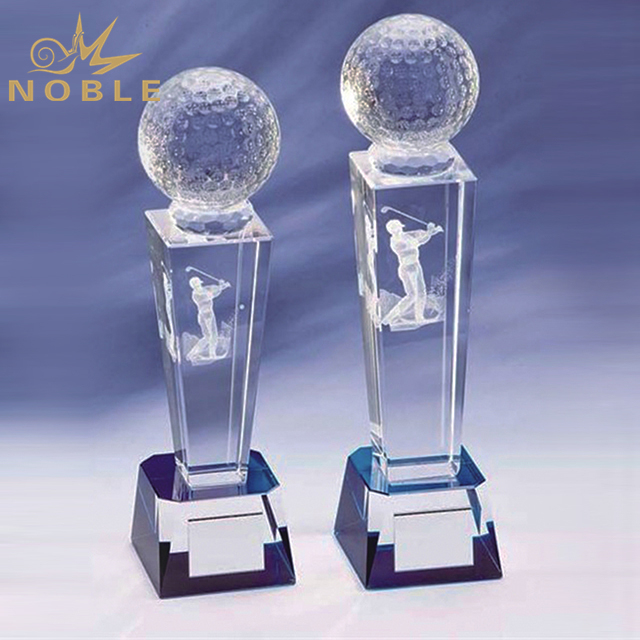 Hot Sale Crystal Golf Sports Trophy