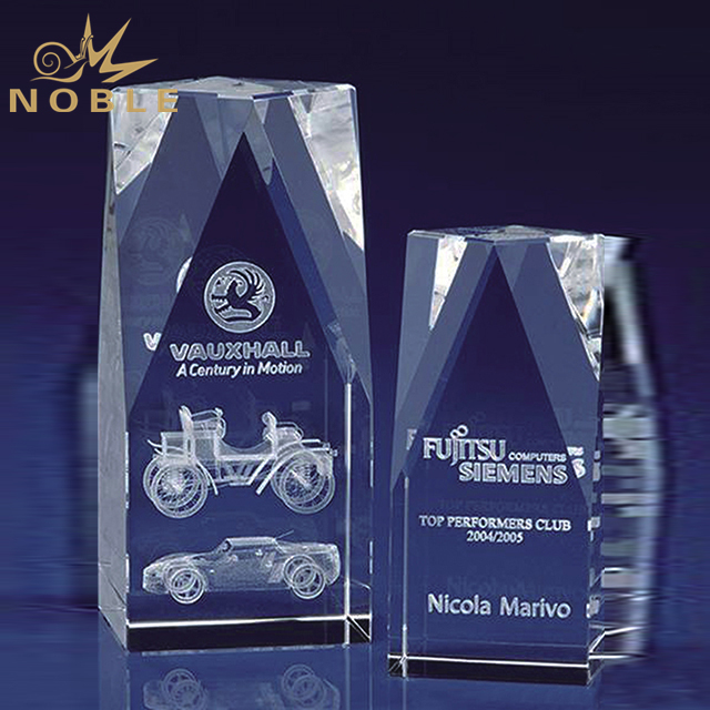 Customized Laser Engraved 3d Logo Crystal Cube