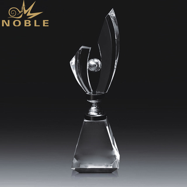 Crystal Trophy Custom 3D Laser Engraving Crystal World Globe Award Trophy