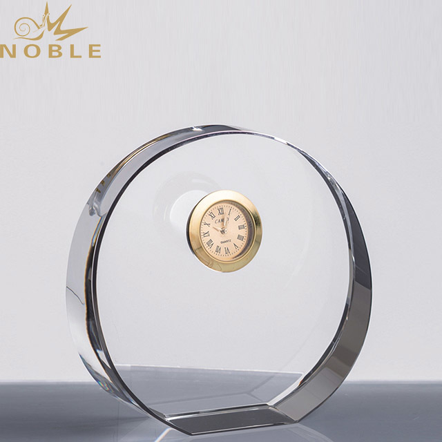 2019 Noble Custom Clock Crystal Award Souvenir Manufacturer in China