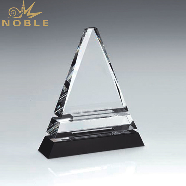 Wholesale Cheap Custom Triangle Transparent Blank Crystal Trophy