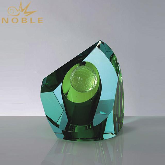 New Awards 3D Laser Engraved Golf Player Crystal Trophy