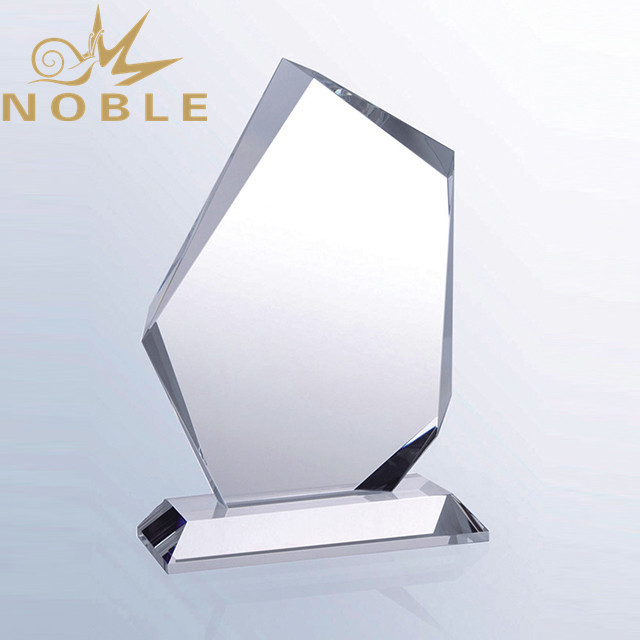 Popular high quality hot selling free engraving Custom crystal plaque trophy