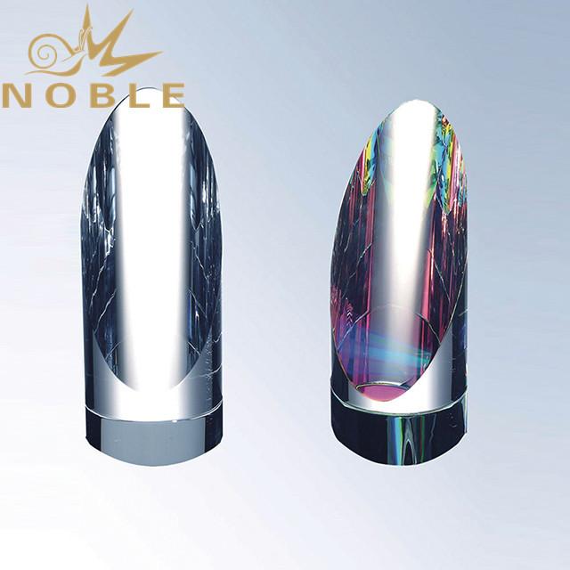 High quality crystal round column award