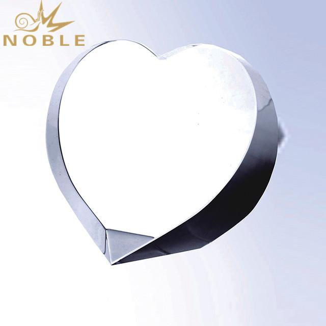 Customized Design High Quality Heart Shaped Crystal Award
