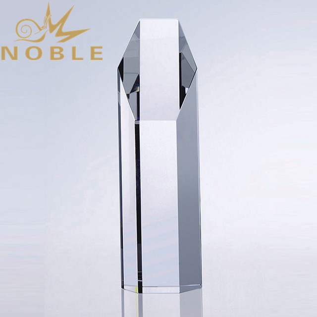 Custom column glass and Crystal award trophy