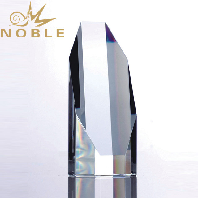 Custom unique style  octagon crystal trophy