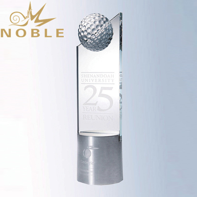 Noble new design crystal golf trophy
