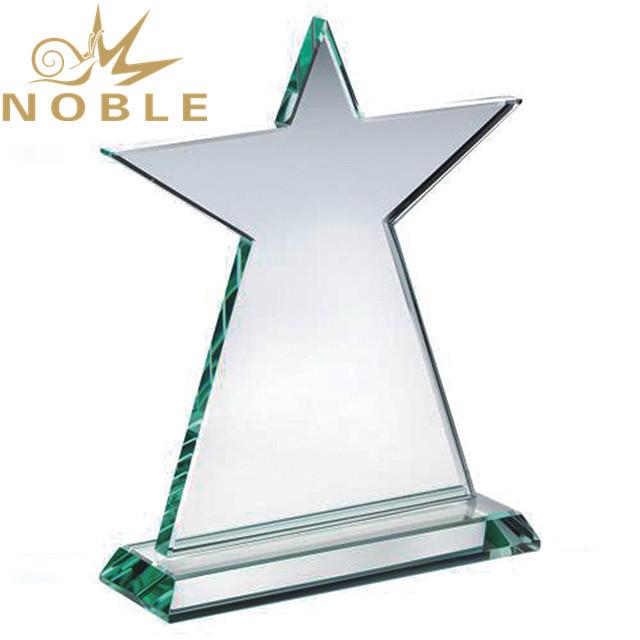 Custom crystal rising star trophy