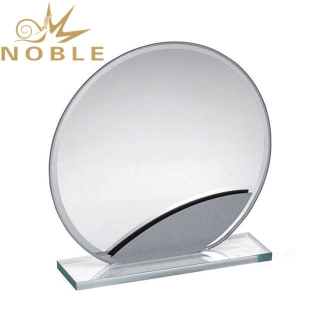 Jade glass custom round glass award