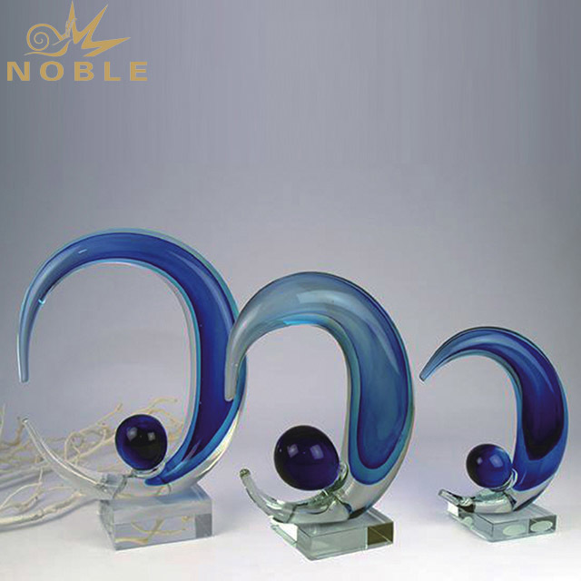2019 Noble Optical Business K9 Crystal Trophy Glass Medal Awards Glass Trophy