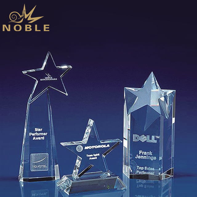 Different Designs Crystal Star Trophies