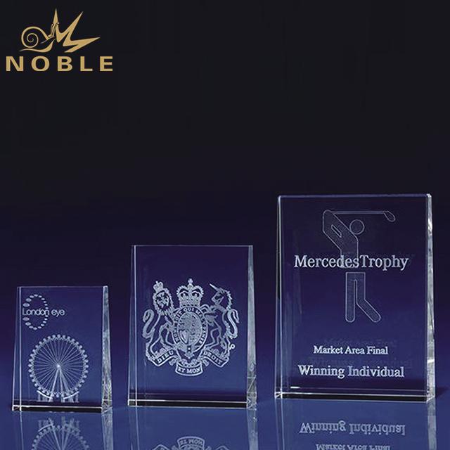 Customized Sizes Crystal Block Plaque Award