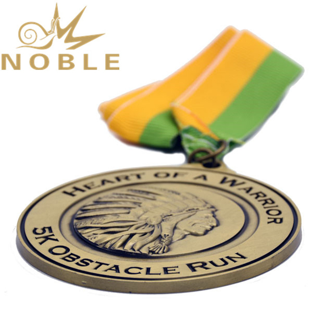 Customized Die Cast Antique Gold Medal For Sports Souvenir