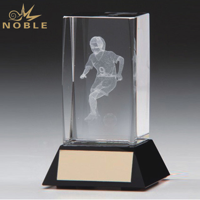 2019 Noble Classic 3D laser Crystal Glass Cube/Crystal Trophy/Crystal Blank Block Wedding Gifts