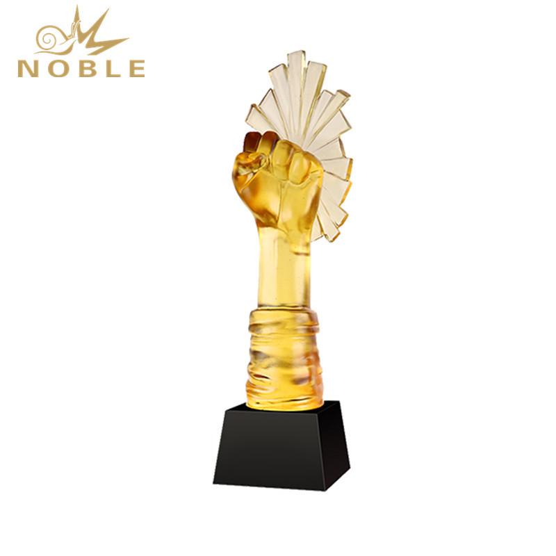 Custom High Grade Liuli Fist Trophy