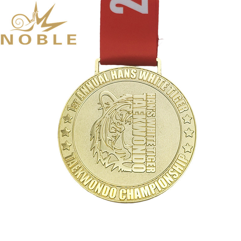 Noble Custom gold  Takewondo medal