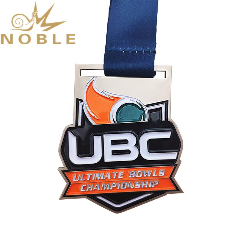 Custom design color filling high quality metal championship medal