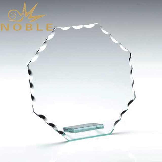 Free engraving high quality Jade glass trophy