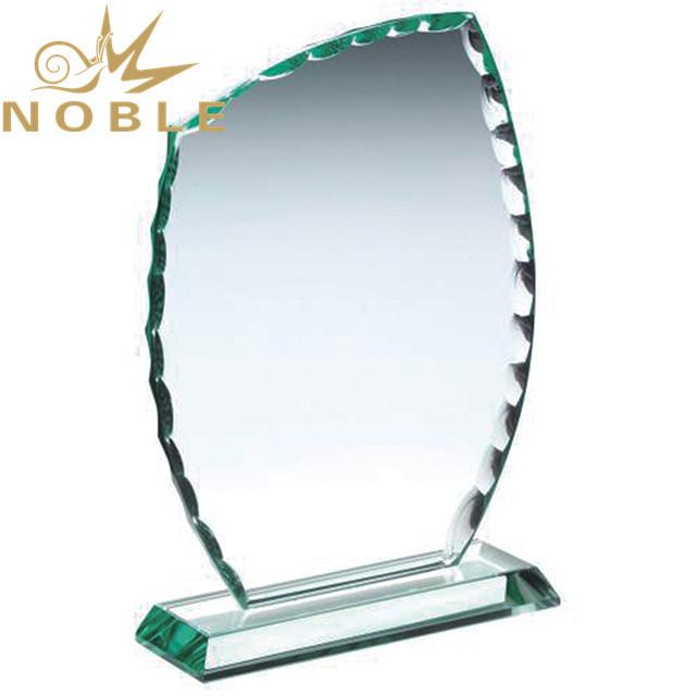 Excellent design high quality custom engraving jade glass plaque